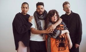 Vencedores do prêmio Turner conjunto do ano passado 2019: (da esquerda) Helen Cammock, Oscar Murillo, Tai Shani e Lawrence Abu Hamdan.