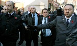BNP leader Nick Griffin arrives at Leeds crown court in 2006.