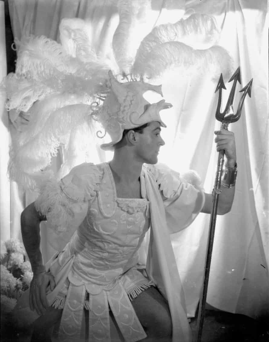 detail of Oliver Messel in his costume for Paris in Helen! by Cecil Beaton, 1932.