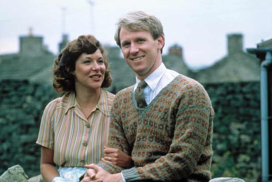 TV career … Carol Drinkwater in the much-loved All Creatures Great and Small, with Peter Davison.
