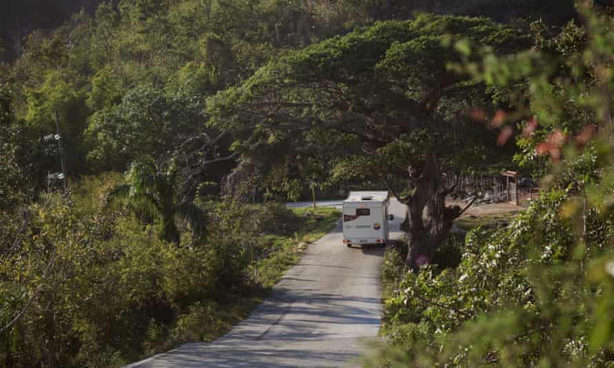 Lydia Bell's rented Fiat Ducato camper.