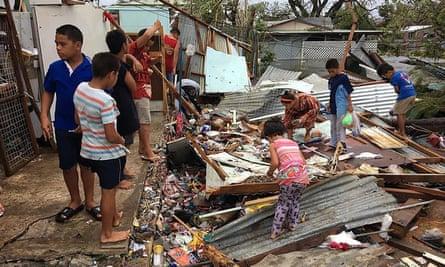 Damage after cyclone Gita hit Tonga in February.