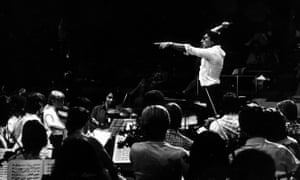Claudio Abbado rehearsing with the European Youth Orchestra in 1979.