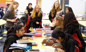 Pupils at Dixons Trinity academy in Bradford, West Yorkshire.
