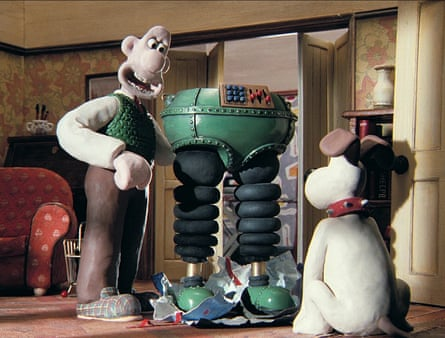 Wallace and his dog Gromit in the film The Wrong Trousers.