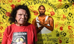 David Dungay's mother, Leetona, at the inquest into his death in custody at Sydney's Long Bay jail