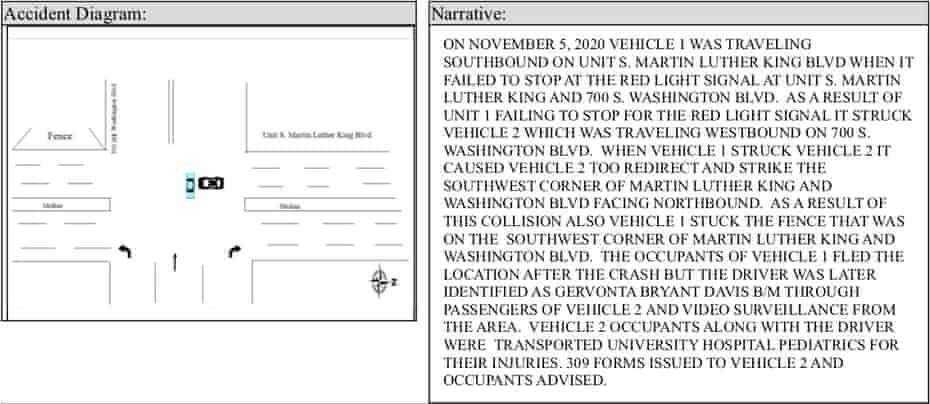 State of Maryland Motor Vehicle Crash Report