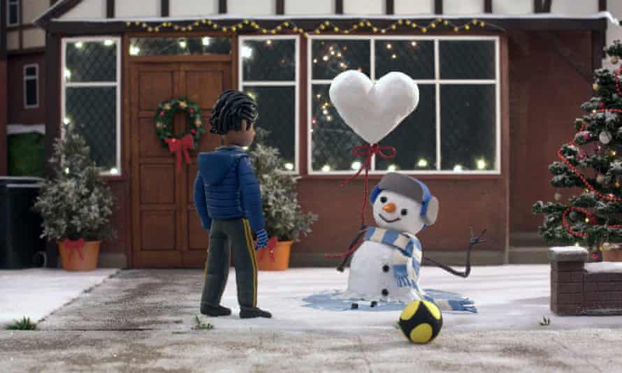 'What if the snowman came down on an electrified train line?' ... a potentially dangerous act of kindness in the John Lewis advert.