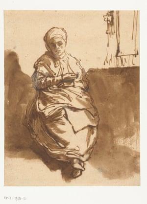 Entire presence … Sitting by a Window, circa 1638.