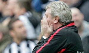 Steve Bruce feels the pain of a 5-1 derby humbling at St James' Park when he was manager of Sunderland.