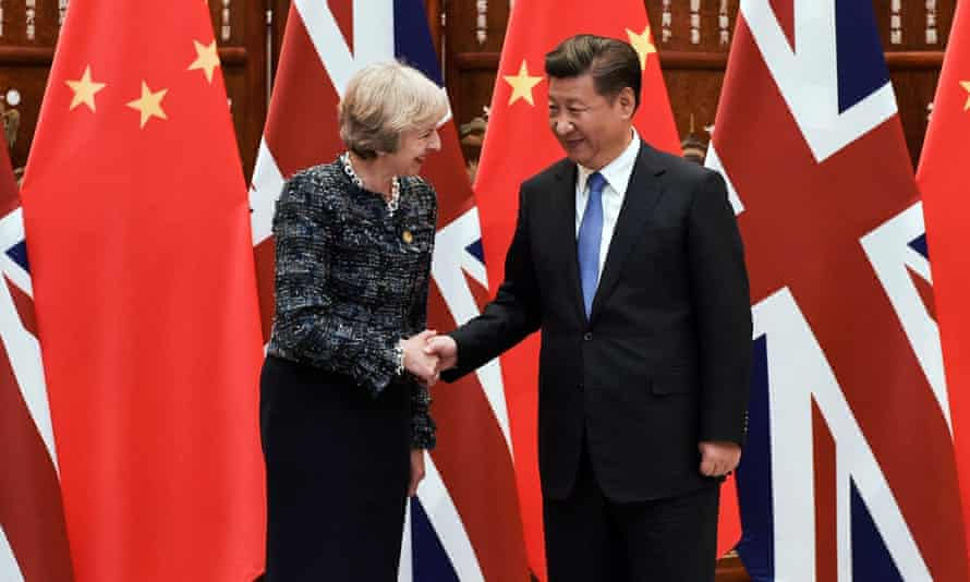 Theresa May meeting Chinese president Xi Jinping in September 2016