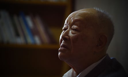 Zhou Youguang at his home in Beijing, 2015.