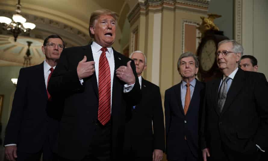 Donald Trump met with GOP lawmakers as the government shutdown drags into a third week.