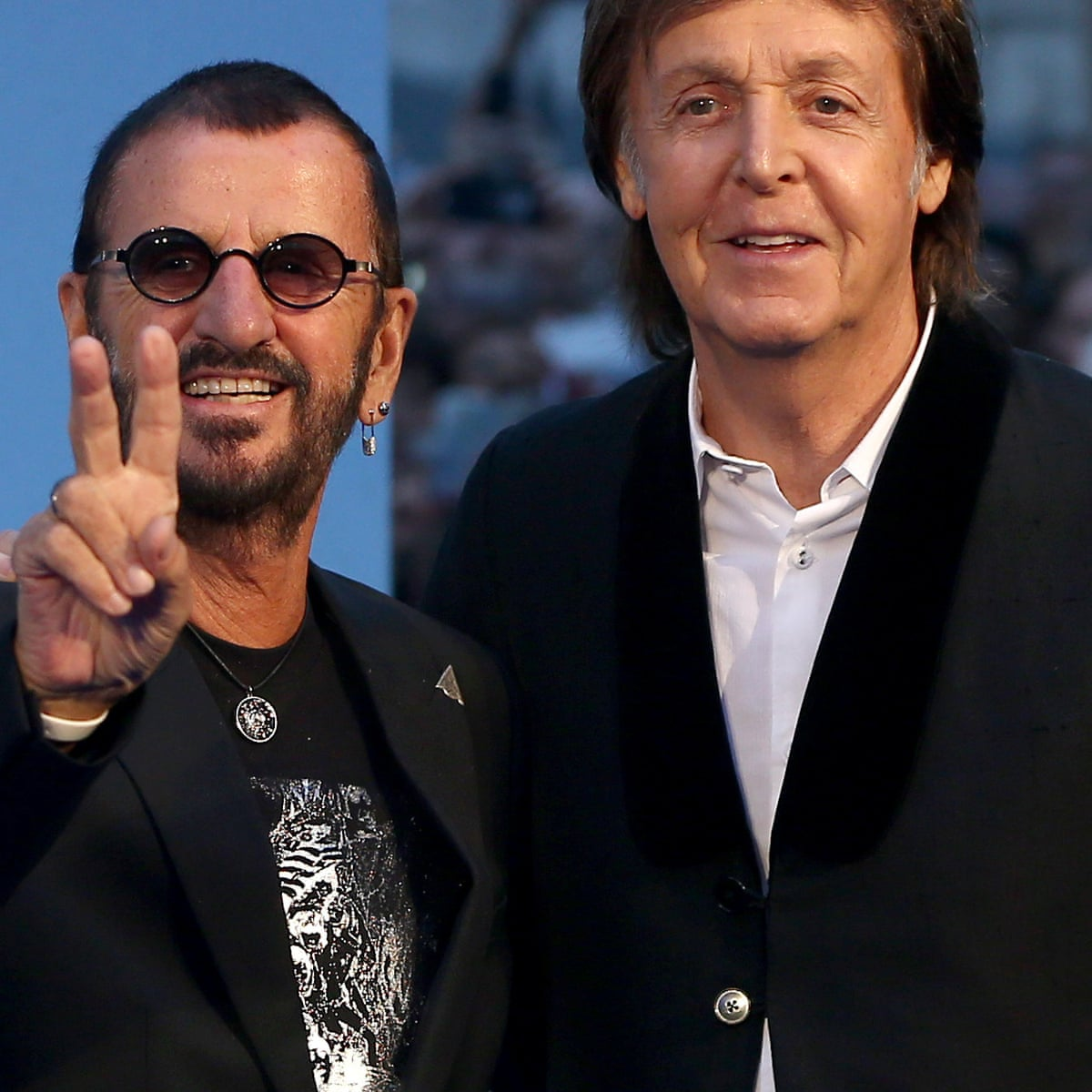 Paul Mccartney And Ringo Starr Reunite To Record John Lennon Song The Beatles The Guardian