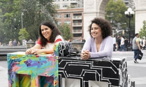Broad City … Jacobson, left, and Glazer.