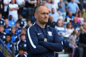 Alex Neil looks on during a pre-season friendly against Newcastle at Deepdale.
