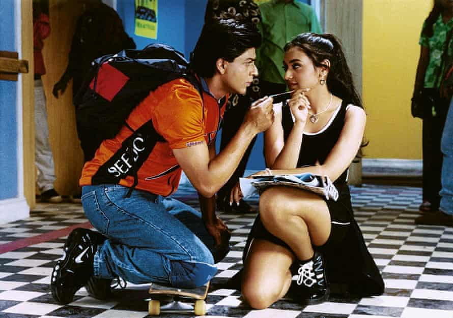 Shah Rukh Khan and Rani Mukerji in Kuch Kuch Hota Hai.