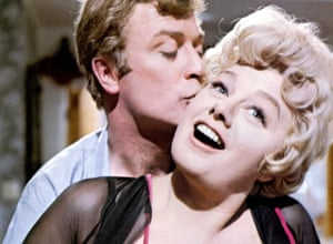 With Shelley Winters in Alfie.