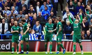 Sheffield Wednesday's Sam Winnall celebrates after making it 2-0