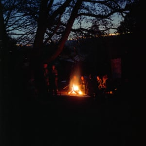 A bonfire on Beltane, a Gaelic May Day festival