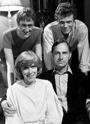 Nicholas Lyndhurst, Andrew Hall, Wendy Craig and Geoffrey Palmer in Butterflies.