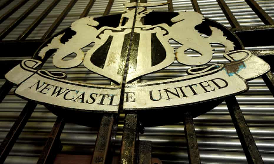 The Newcastle United sign outside St James' Park