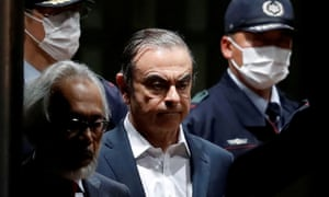 Ghosn pictured last year, while he was being detained in Japan. He is now in Lebanon, which has no extradition treaty with Japan.