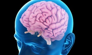 Illustration of a brain in an older man