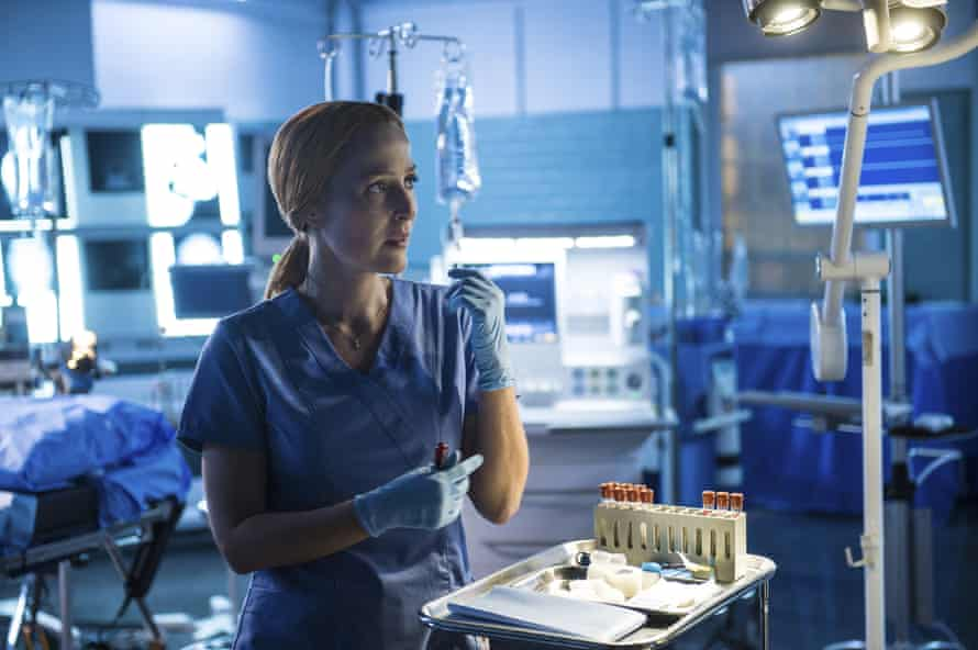 Gillian Anderson as Dana Scully, now a surgeon.