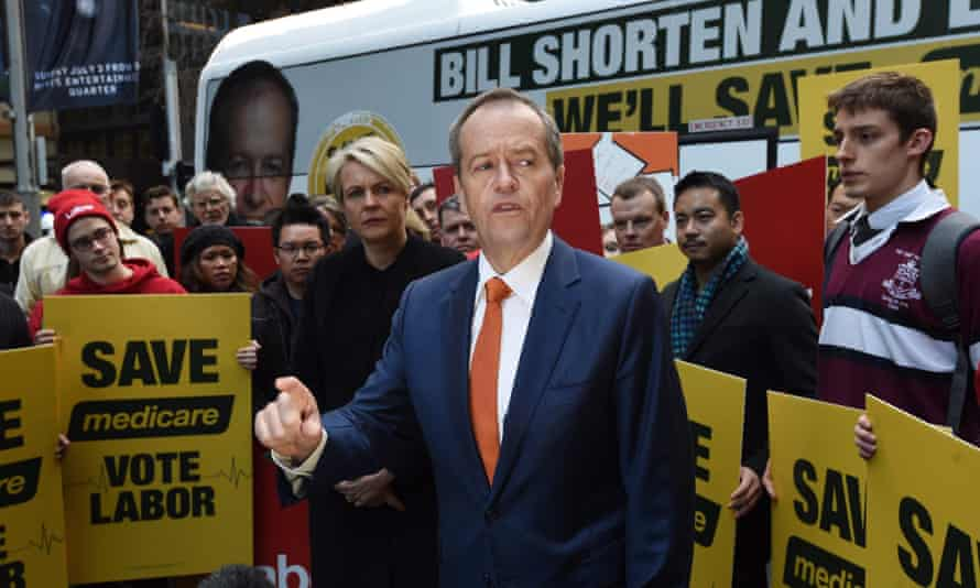 Leader of the Opposition Bill Shorten speaks at a 'Save Medicare' rally
