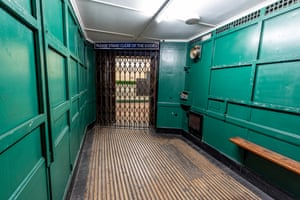 The inside of an Otis lift at Aldwych underground station