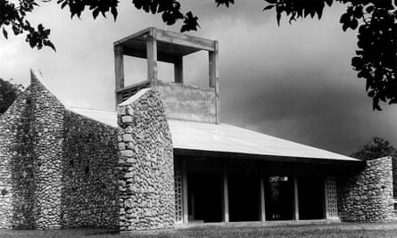 Kilifi Church in Kenya, designed by Richard Hughes with breezy walls made of coral rag