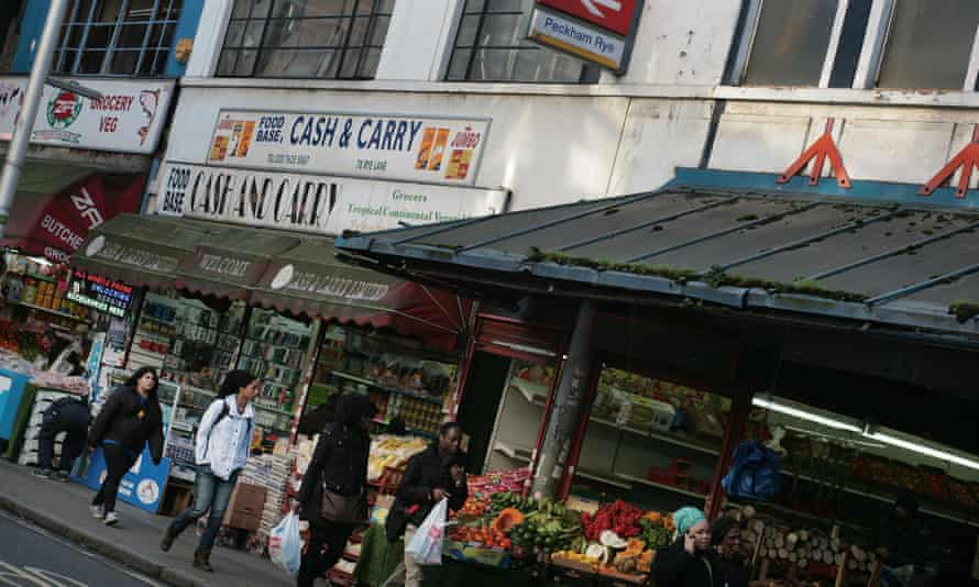 Independent shops in Peckham, south London.