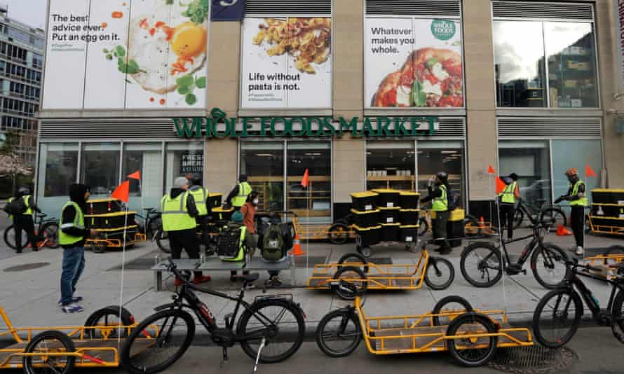 'The bottom line is we don't think Whole Foods or Amazon is doing nearly enough as they could be to protect both employees and customers at the store in terms of personal safety and public health.'
