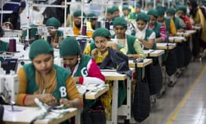 Female garment factory workers in Bangladesh