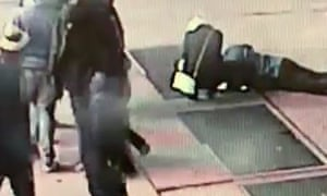 The couple search for the engagement ring, which was lost down a grate in Times Square