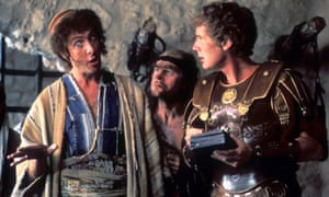 Eric Idle, Terry Gilliam and Michal Palin in Monty Python's Life of Brian (1979).