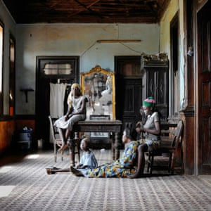 """Conforte with Godonou Dossou Family, Porto-Novo, 2011 This wide-ranging investigation takes as its starting point the Edouard Glissant quote: """"To forget is to offend, and memory, when it is shared, abolishes this offense. If we want to share the beauty of the world, if we want to be solidary with its suffering, we need to learn how to remember together."""""""