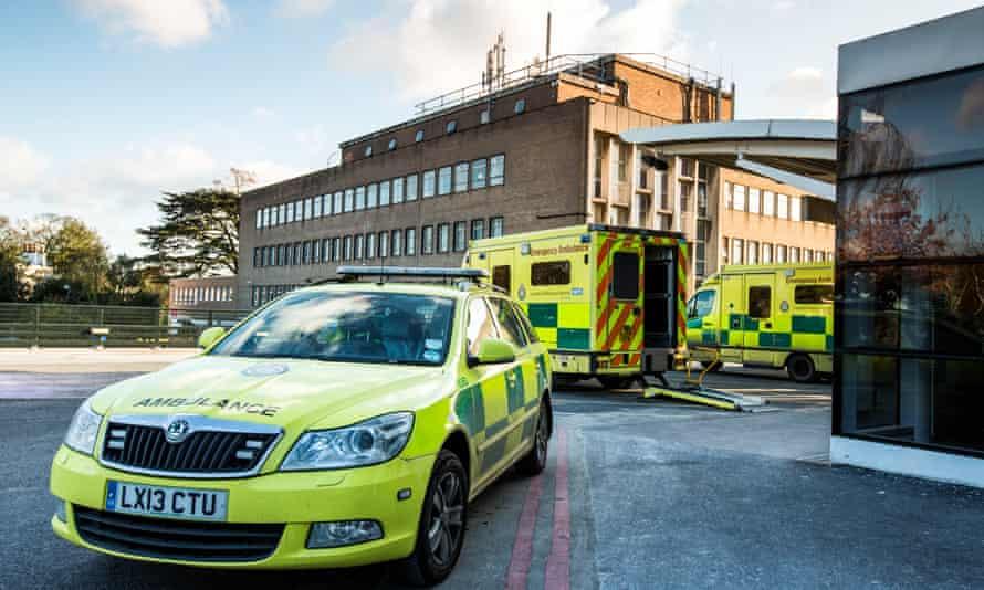 Ambulances outside Hillingdon hospital