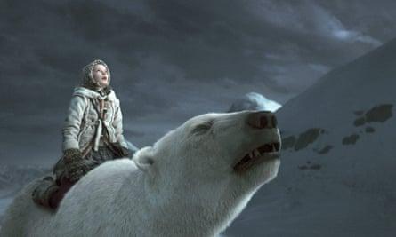 Dakota Blue Richards as Lyra in The Golden Compass, the 2007 film adaptation of Northern Lights