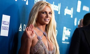 Spears attends the annual GLAAD Media awards in Beverly Hills, California, 12 April 2018.