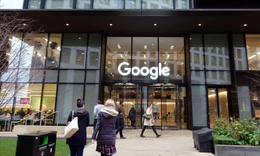 Google's office in King's Cross, London. MPs recently accused the company of 'profiting from hatred'.