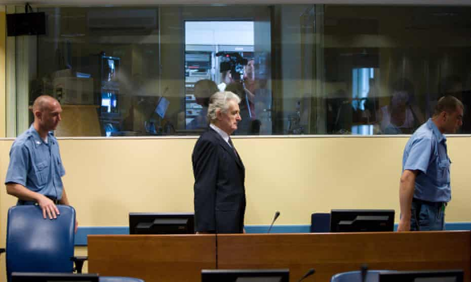 Radovan Karadžić at the international criminal tribunal for Yugoslavia (ICTY). 'Whatever the outcome, it will cause anguish and bitterness from the region.'