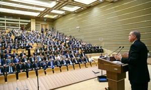 Recep Tayyip Erdoğan at a meeting