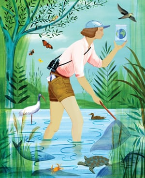 Rachel Carson, illustration by Sarah Wilkins, in Good Night Stories for Rebel Girls 2.