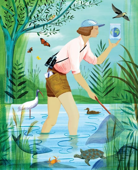 Rachel Carson, illustration by Sarah Wilkins, in Good Night Stories for Rebel Girls 2.