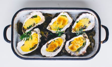 'All cream and acidity and surf and hurrah': rock oysters.