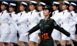 Troops prepare for the arrival of Xi Jinping.