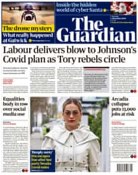 Guardian front page, Tuesday 1 December 2020