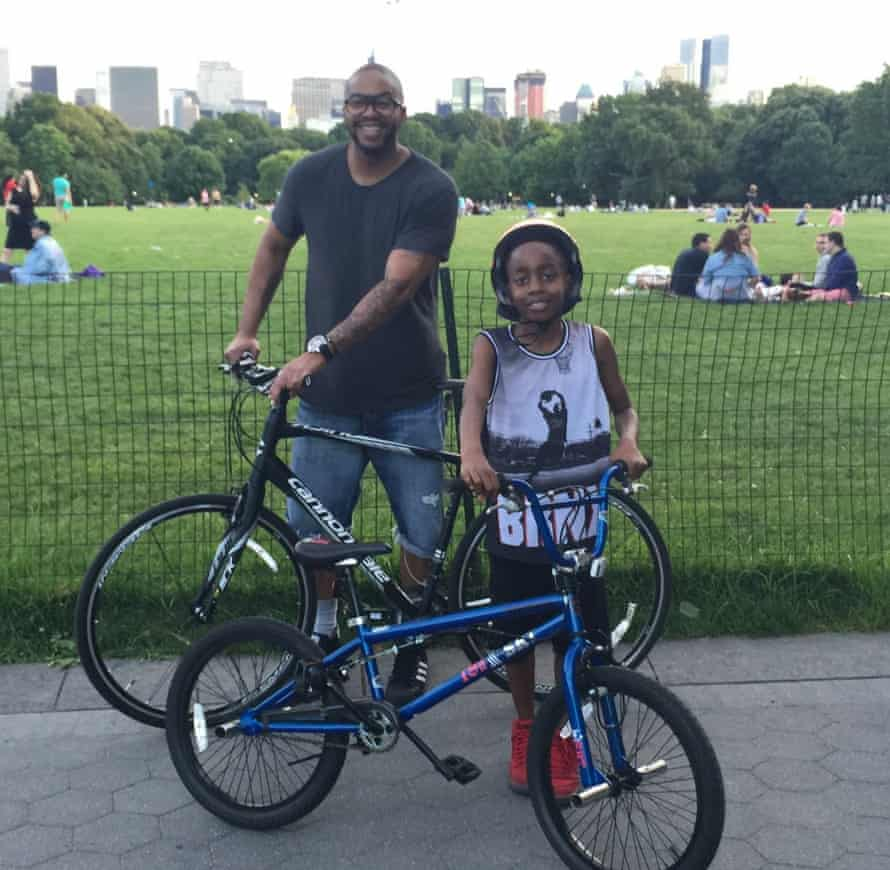 Mitchell S Jackson and his son in Central Park, New York